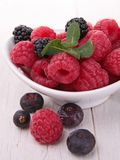 Berries fruits. Close up on fresh berries fruits Stock Photo
