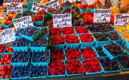 Berries galore Blueberries Raspberries Blackberries Royalty Free Stock Photo