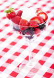 Berries in a glass Stock Photos