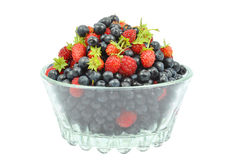 Berries in a glass Royalty Free Stock Photos