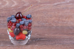 Berries in a glass Stock Photography