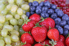 Berries and grapes Royalty Free Stock Photography
