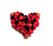 Berries in a heart shape Stock Image