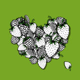 Berries heart, sketch for your design Royalty Free Stock Photo