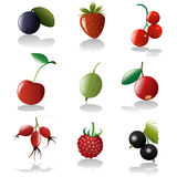 Berries icon set Royalty Free Stock Photos