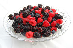 Berries In A Crystal Bowl Stock Image