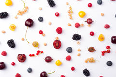 Berries isolated over white background. Royalty Free Stock Image