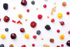 Berries isolated over white background. Stock Photos