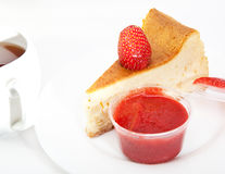 Berries, jam, cakes, pieces of a pie and other food Royalty Free Stock Photo