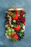Berries jam Stock Photo