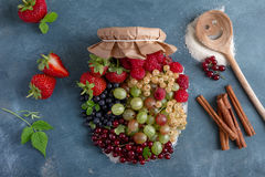 Berries jam Royalty Free Stock Photography