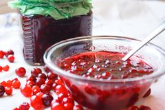 Berries and jam royalty free stock image