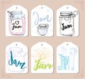 Berries Jam Label Set. Template of lebel design Stock Image