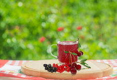 Berries and juice Royalty Free Stock Photo