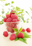 Berries are juicy raspberries Royalty Free Stock Images