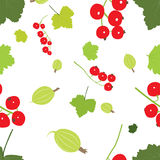Berries with leaf seamless pattern Royalty Free Stock Photography