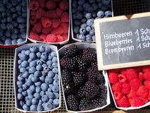 Berries in the market Royalty Free Stock Photography