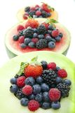 Berries and melon Royalty Free Stock Images