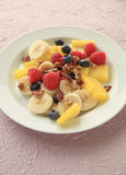 Berries, melon and banana fruit salad Royalty Free Stock Photo