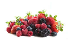 Berries mix stock images