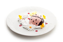 Berries Mousse. Kids Food - Berries Mousse with Whipped Cream Stock Images
