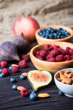 Berries and nuts Stock Photo