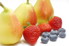 Berries and pears Stock Photo