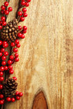 Berries and pine cones Royalty Free Stock Photo