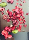 Berries and pistachio chocolate Stock Photo