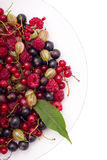 Berries on a plate Royalty Free Stock Image