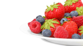 Berries on plate Royalty Free Stock Photography