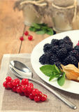 Berries on plate Royalty Free Stock Image