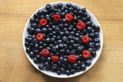 The berries on the plate Royalty Free Stock Photo