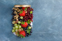 Berries preserve Stock Photography