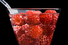 Berries raspberries in a wineglass Stock Images