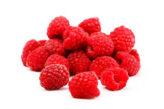 Berries red raspberries on an isolated background. Berrie red raspberries on an isolated white background Stock Images