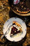 Berries and rhubarb slice pie Royalty Free Stock Photo