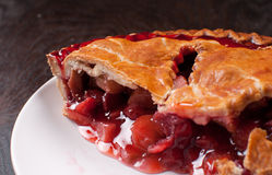 Berries and rhuharb pie crust. Cut Royalty Free Stock Photos