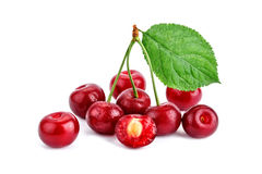 Berries ripe cherry on a white background. Stock Image
