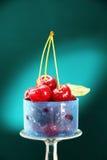 Berries ripe red cherries. Royalty Free Stock Photo