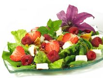 Berries in salad Royalty Free Stock Image