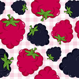 Berries Seamless Pattern on Tablecloth Royalty Free Stock Images