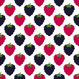 Berries Seamless Pattern on White Royalty Free Stock Photography