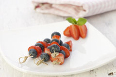 Berries on a skewers Royalty Free Stock Photography