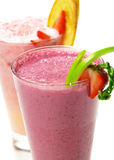 Berries Smoothies. Refreshment Berries Smoothies Isolated over White Stock Photo