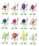 Berries with a spoon. The figure shows the berries with a spoon Royalty Free Stock Images