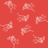 Berries. a sprig of mountain ash. sketch of rowan twigs. Royalty Free Stock Image