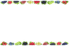 Berries strawberries grapes blueberries berry fruits fruit copys Royalty Free Stock Photos