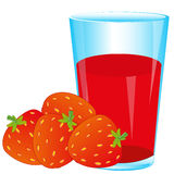 Berries strawberries and juice Royalty Free Stock Photos