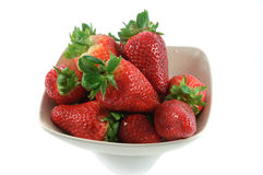 Berries of strawberry in small dish Stock Photography